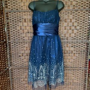 Silver and Blue Formal Dress